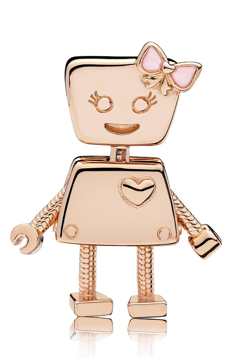 PANDORA Rose Bella Bot Charm, Main, color, ROSE GOLD