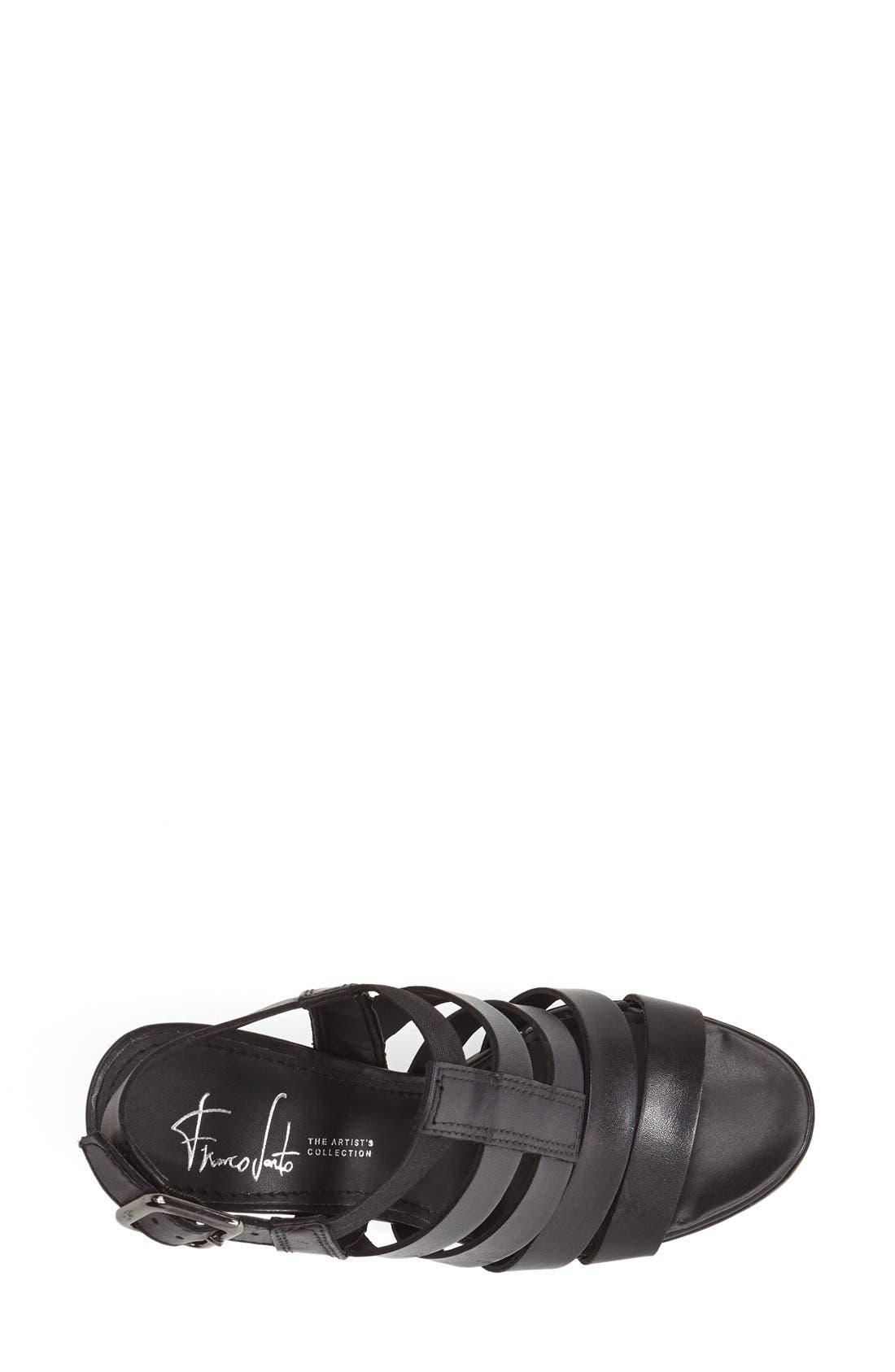 ,                             'Montage' Leather Sandal,                             Alternate thumbnail 3, color,                             001