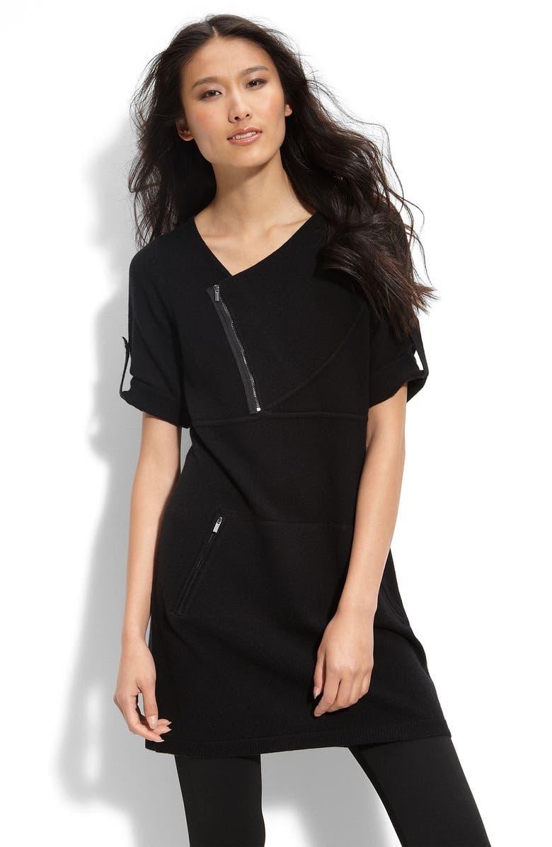 BCBGMAXAZRIA Tunic Sweater Dress, Main, color, 001
