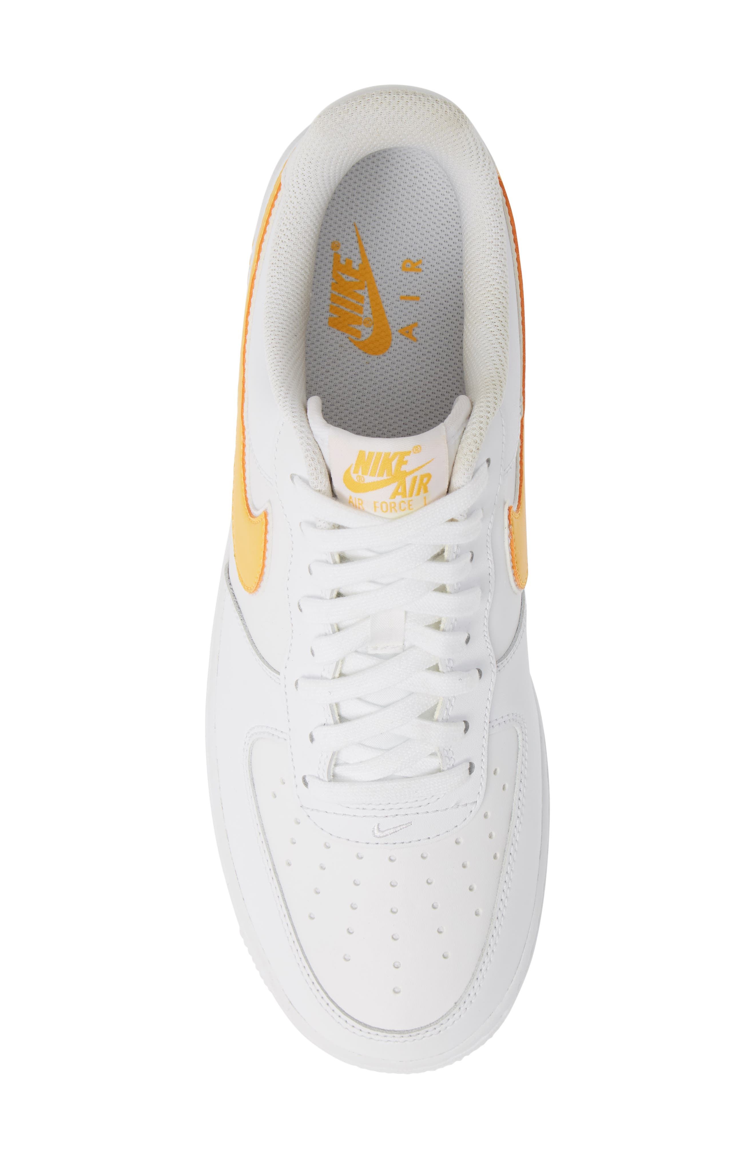 ,                             Air Force 1 '07 3 Sneaker,                             Alternate thumbnail 5, color,                             WHITE/ UNIVERSITY GOLD
