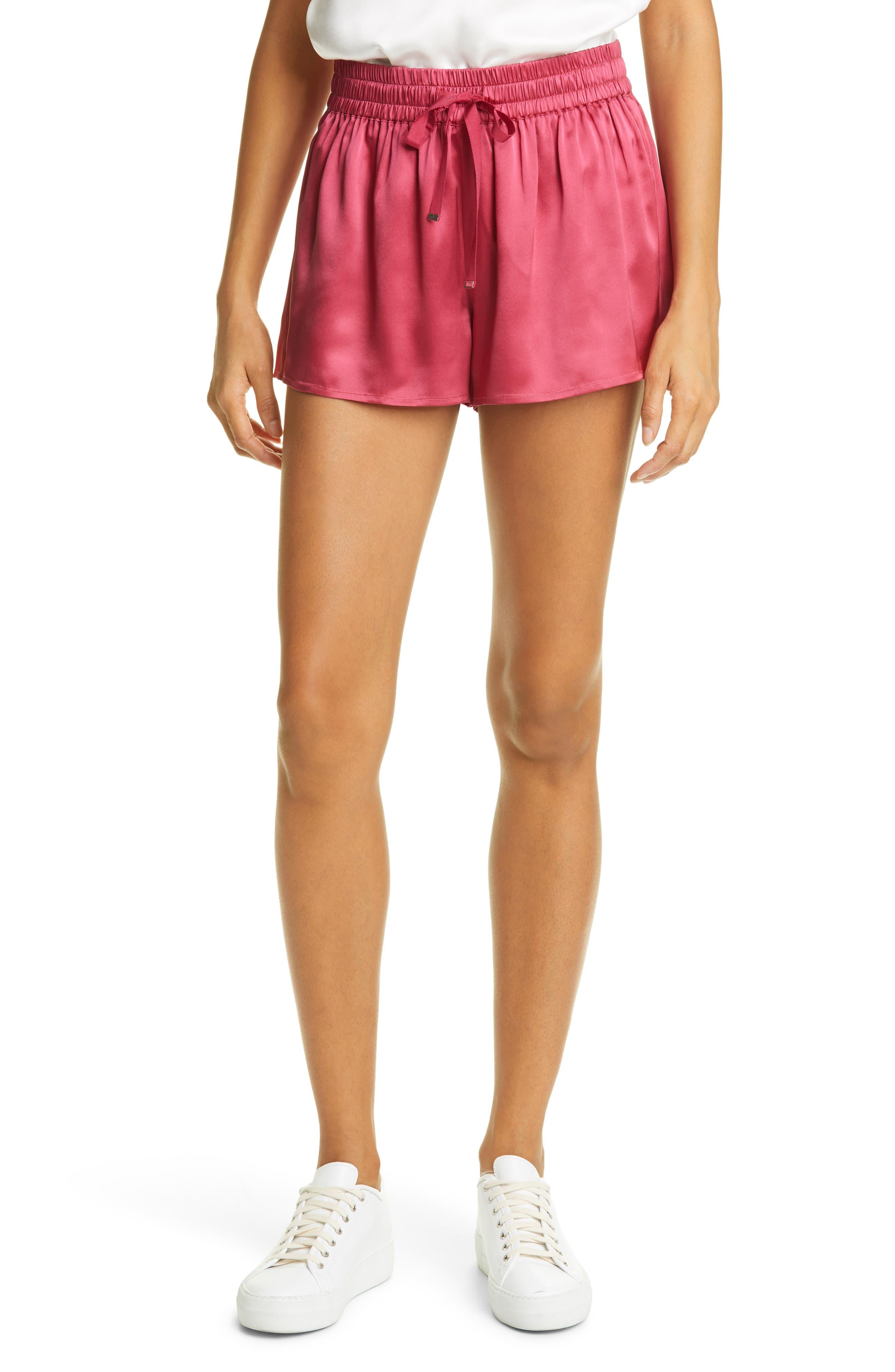Jillian Silk Drawstring Shorts