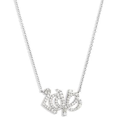 Anzie Love Letter Love Script Pendant Necklace