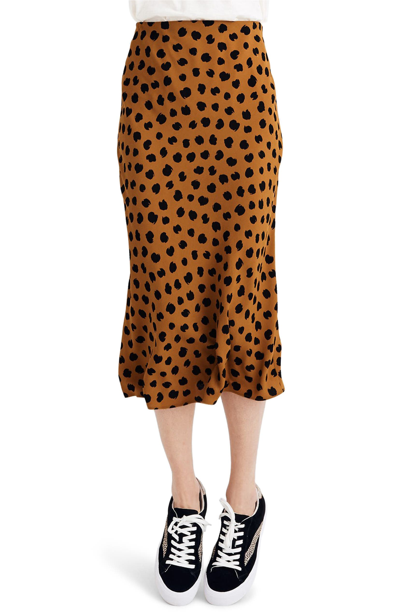 unparalleled marketable outlet Painted Spots Midi Slip Skirt