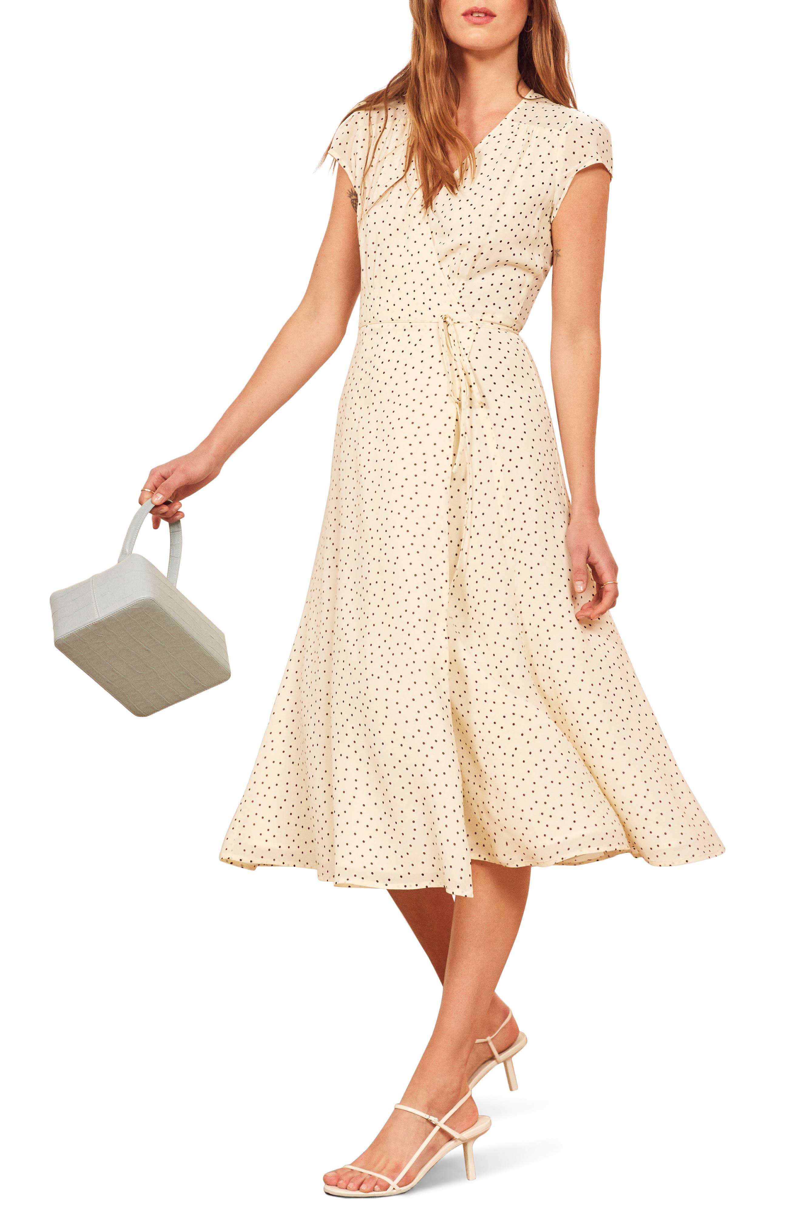 Reformation Carina Midi Wrap Dress