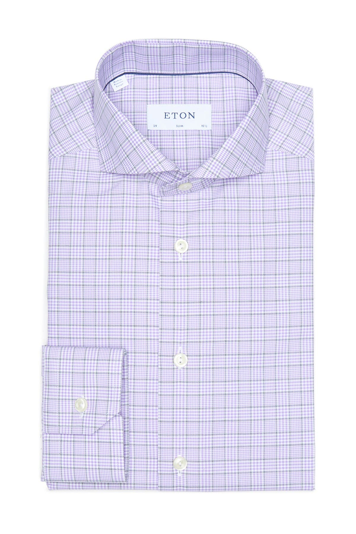 Image of Eton Slim Fit Check Dress Shirt