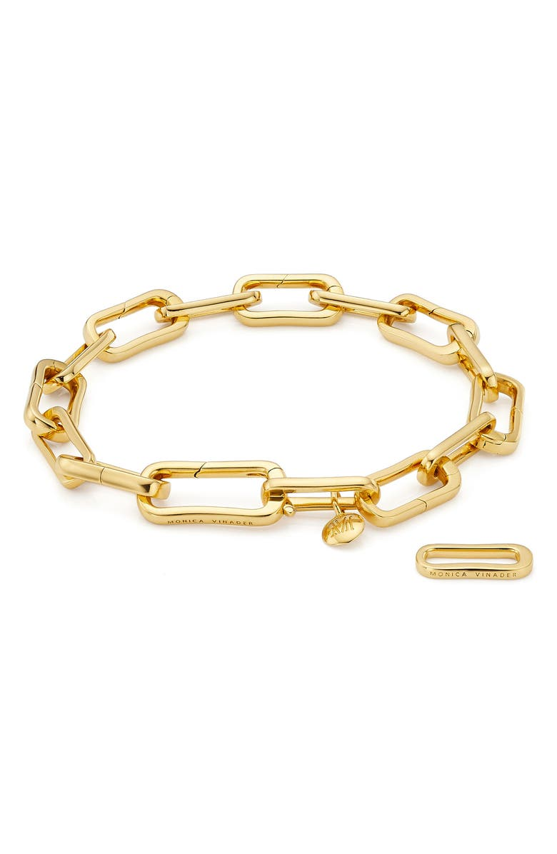MONICA VINADER Alta Capture Charm Bracelet, Main, color, YELLOW GOLD