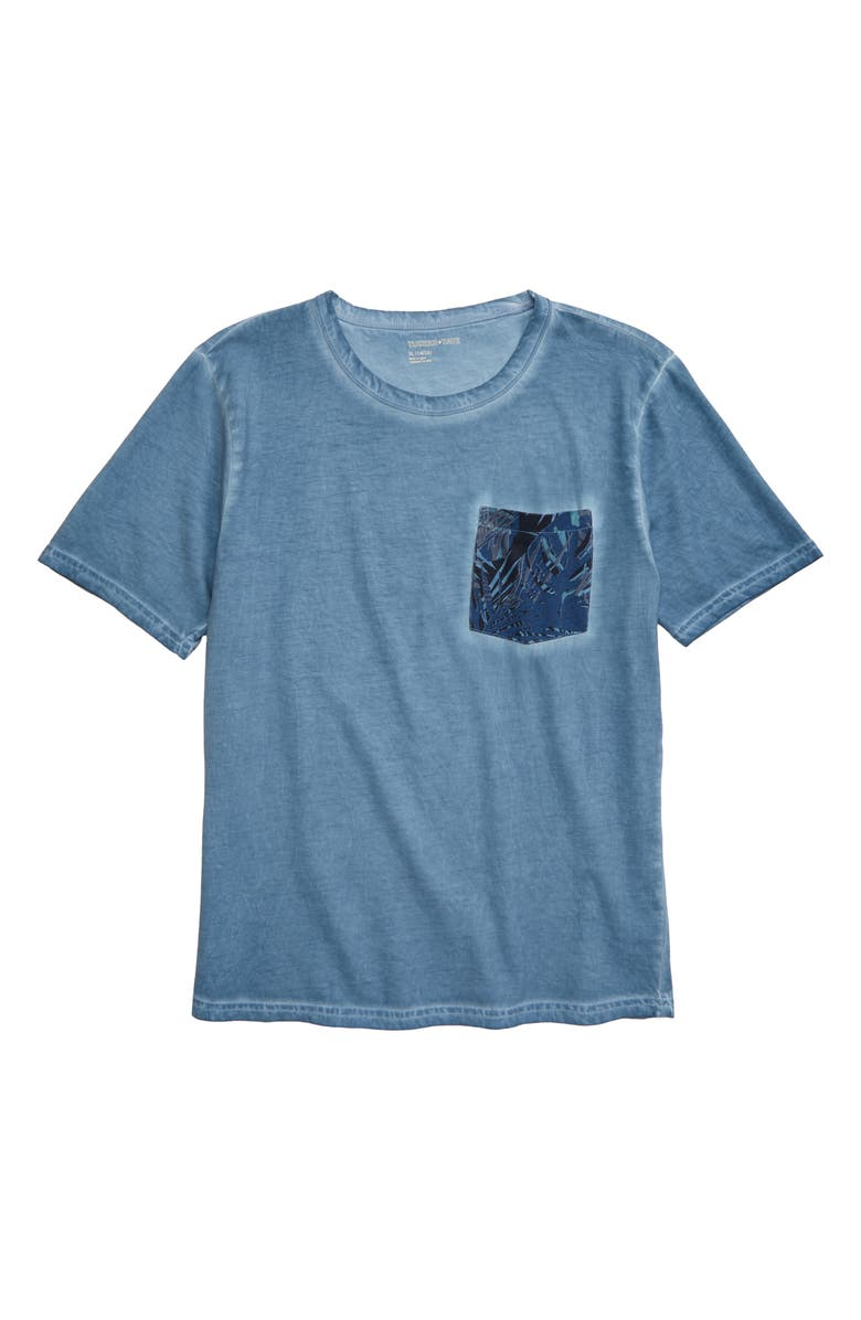 TUCKER + TATE Castaway Pocket T-Shirt, Main, color, BLUE CHAMBRAY