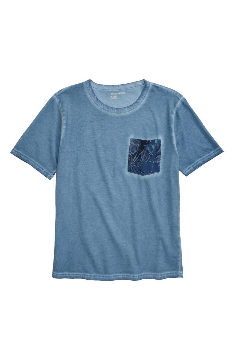 TUCKER + TATE Castaway Pocket T-Shirt, Main, color, BLUE CHAMBRAY