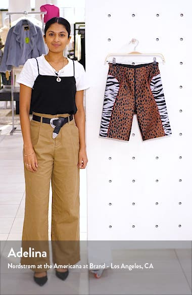 The Electric Feel Mixed Animal Print Biker Shorts, sales video thumbnail