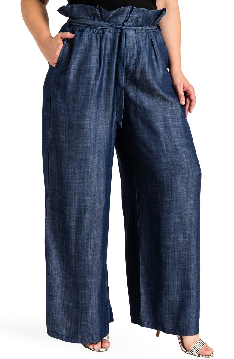 STANDARDS & PRACTICES Cleo Wide Leg Pants, Main, color, DARK BLUE