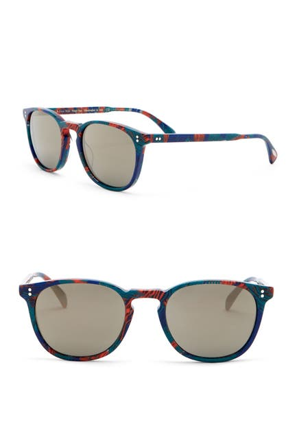 Image of Oliver Peoples Finley Esq. 51mm Retro Sunglasses