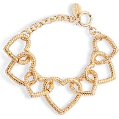 Stella + Ruby Heart Link Bracelet