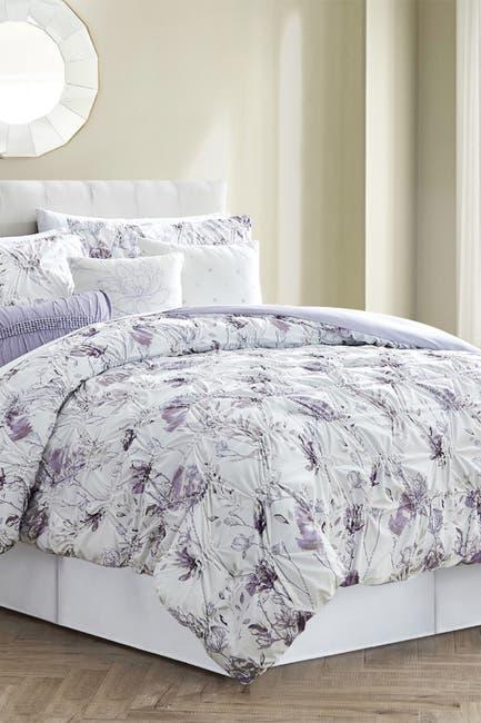 Image of Modern Threads Down Alternative Reversible King Comforter - Anemone/Wheat