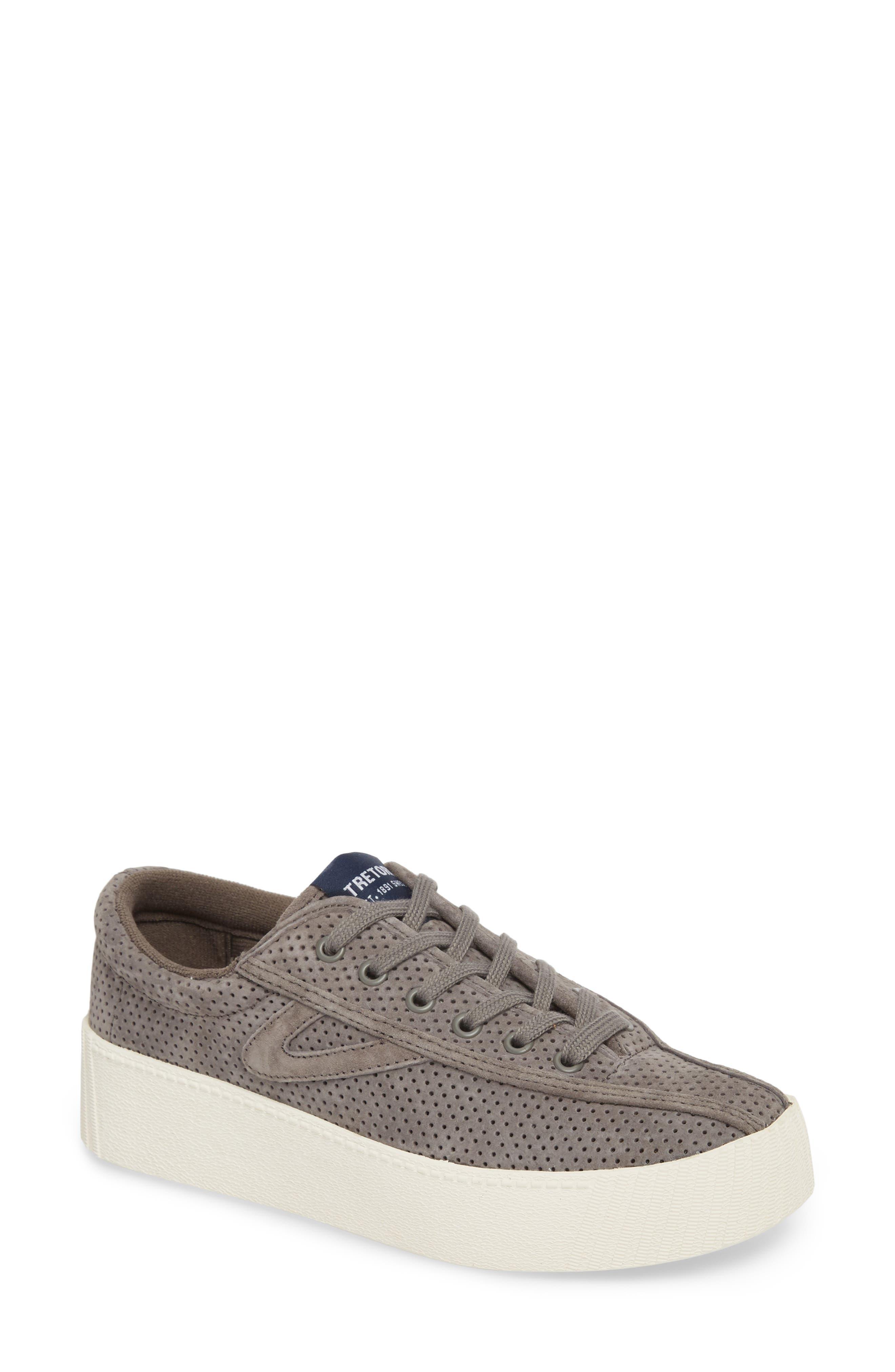 Bold Perforated Platform Sneaker, Main, color, GRAPHITE/ GRAPHITE