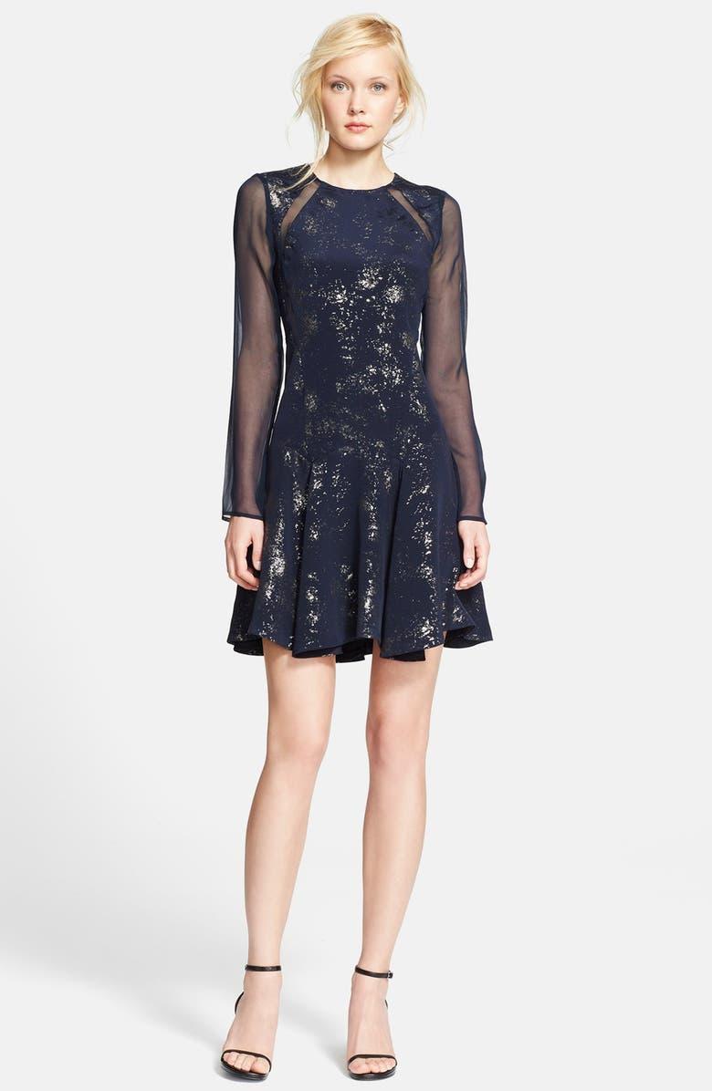 Rebecca Taylor Womens Ava Silk & Cotton Ruffle Dress