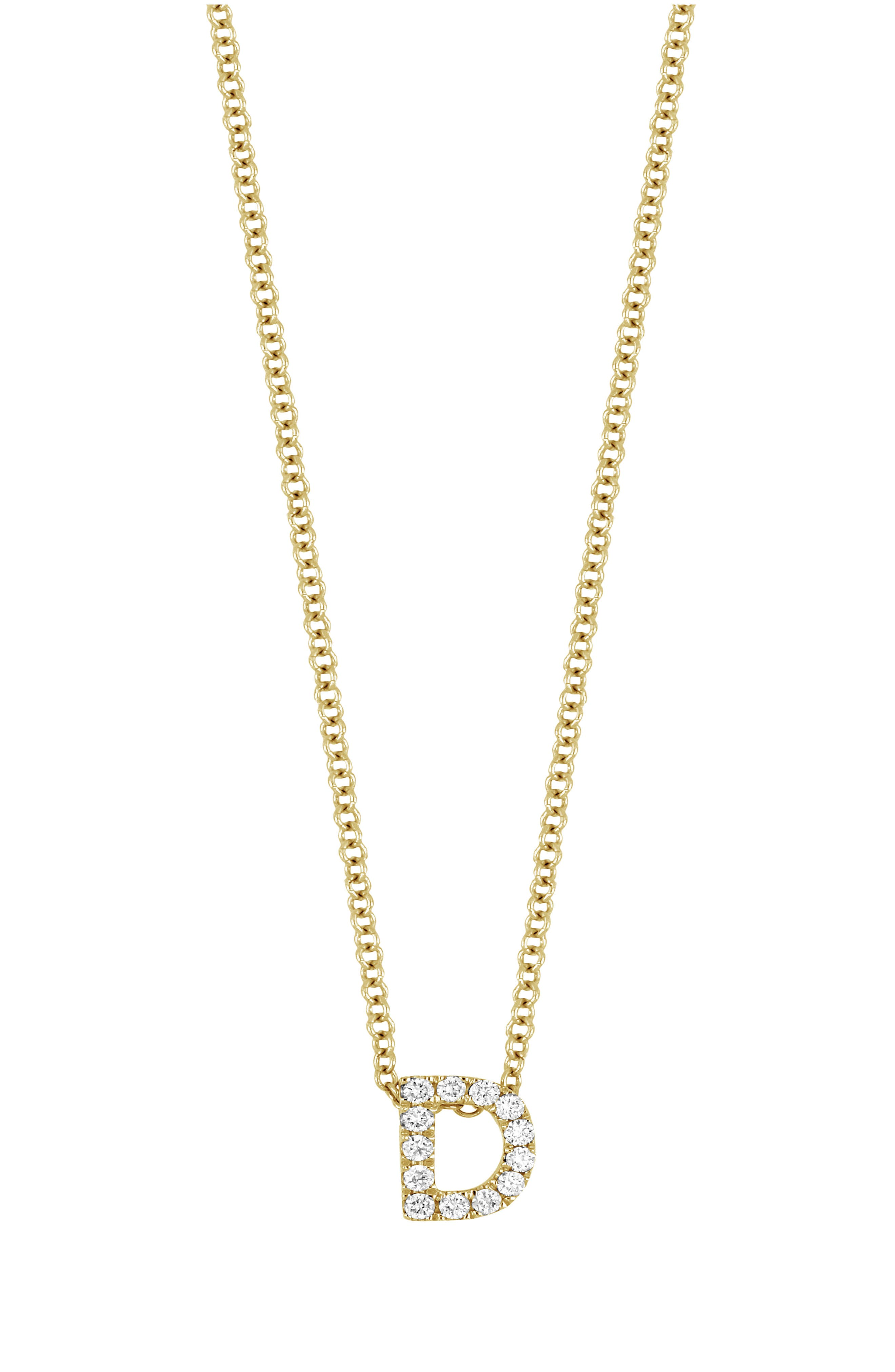 18K Gold Pave Diamond Initial Pendant Necklace (Nordstrom Exclusive)