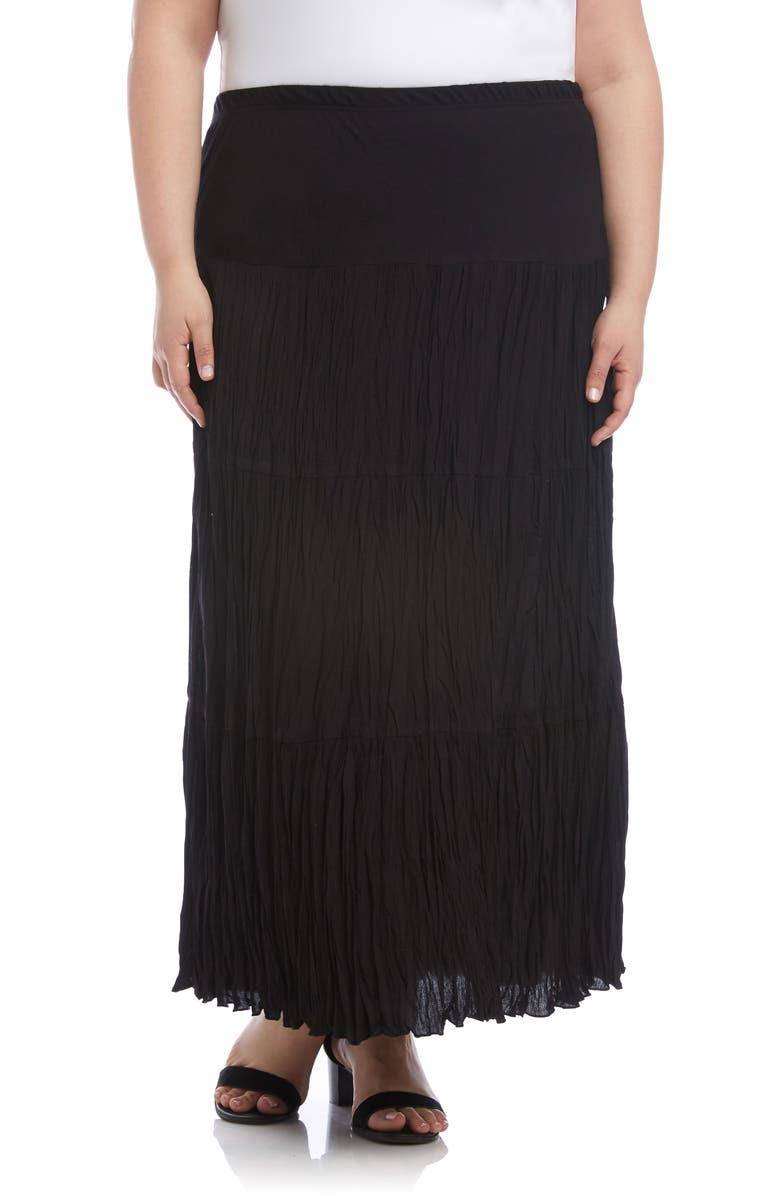 KAREN KANE Crushed Tiered Maxi Skirt, Main, color, 001