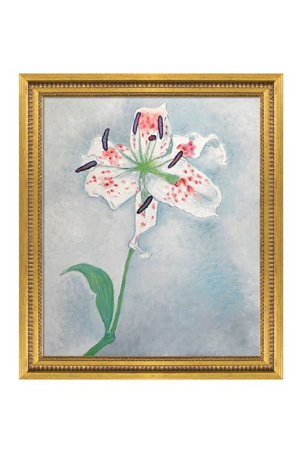 Image of Overstock Art Lily - Framed Oil Reproduction of an Original Painting by Piet Mondrian