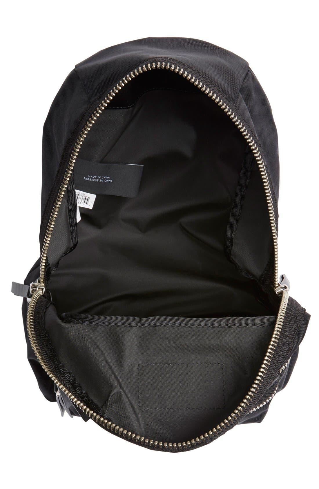 ,                             'Mini Biker' Nylon Backpack,                             Alternate thumbnail 4, color,                             001