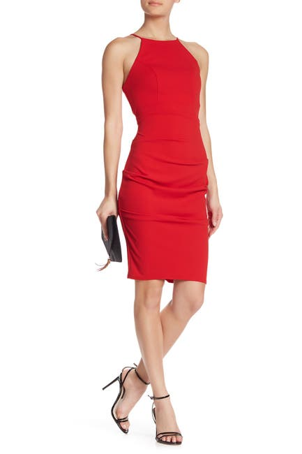 Image of JUMP Ruched Crepe Sheath Dress