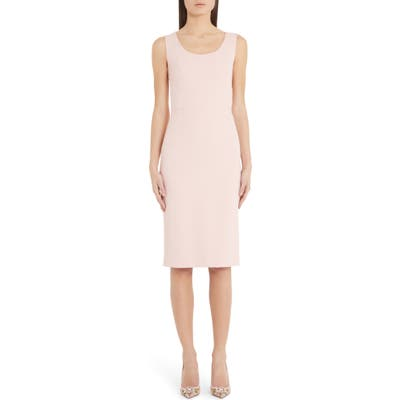 Dolce & gabbana Scoop Neck Sheath Dress, US / 42 IT - Pink