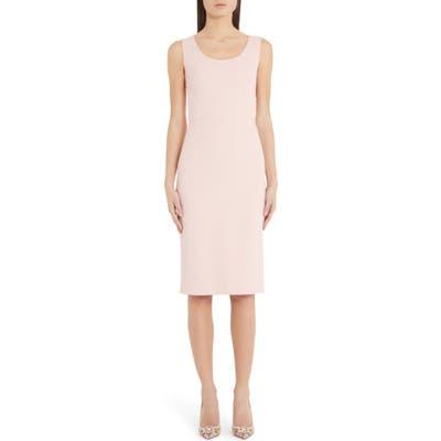 Dolce & gabbana Scoop Neck Sheath Dress, US / 40 IT - Pink