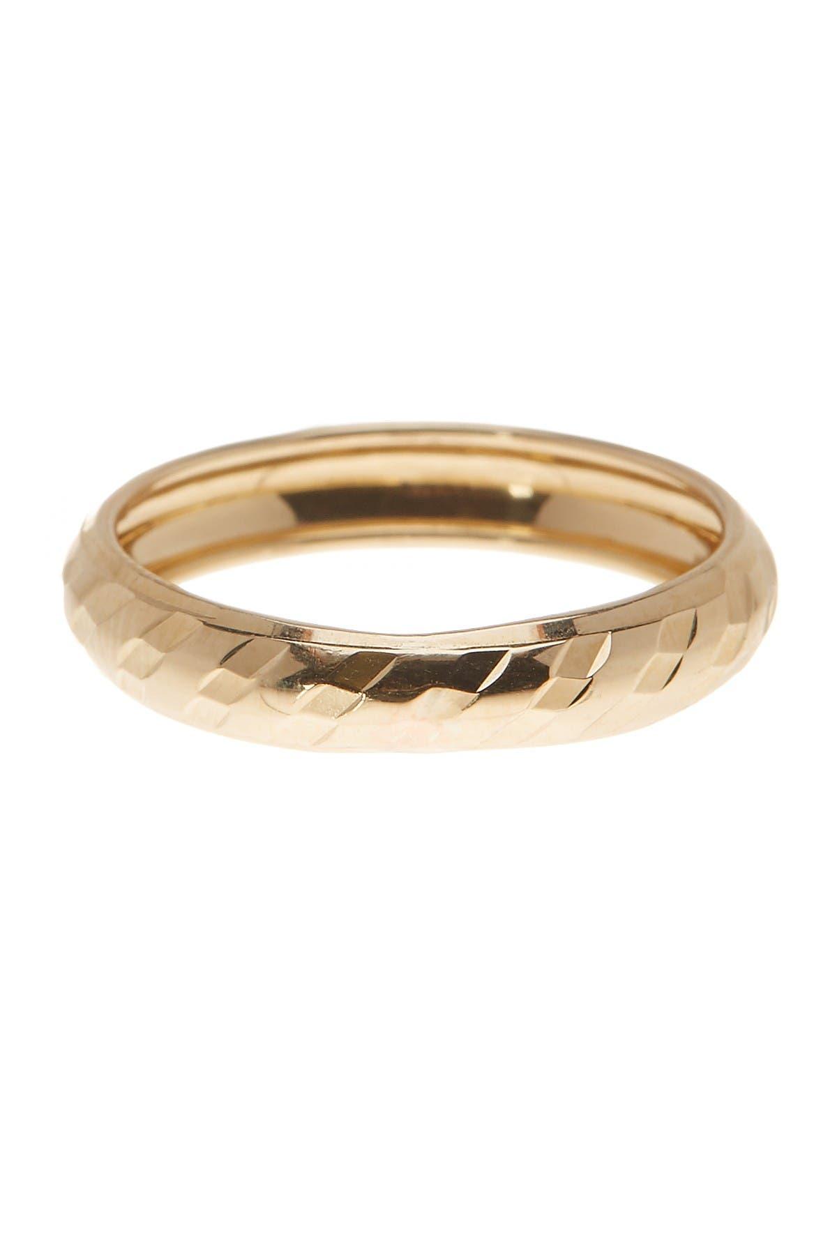 Image of KARAT RUSH 10K Yellow Gold Textured Band Ring