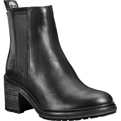 Timberland Sienna Waterproof Block Heel Chelsea Boot- Black