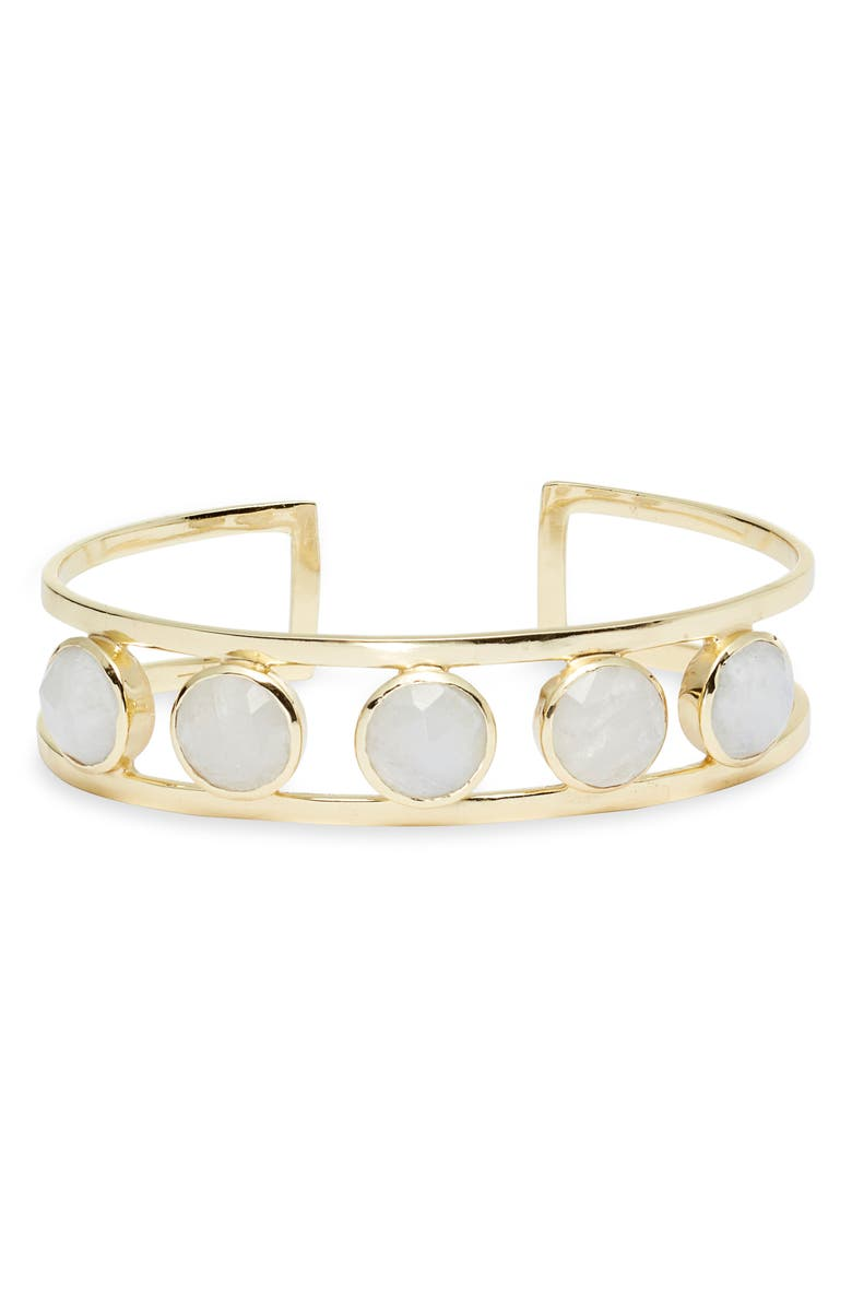 COLLECTIONS BY JOYA Jordan Freshwater Pearl Cuff, Main, color, MOONSTONE