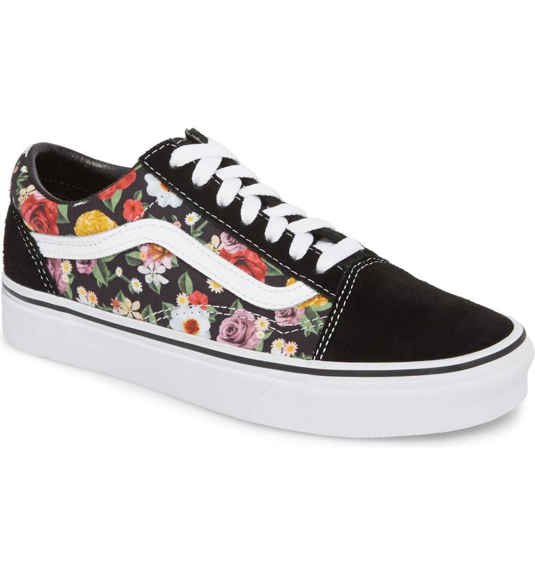 VANS UA Old Skool Lux Floral Sneaker, Main, color, 001