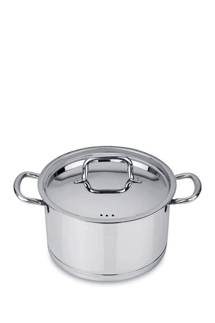 """Image of BergHOFF 10"""" Silver Covered Stockpot"""