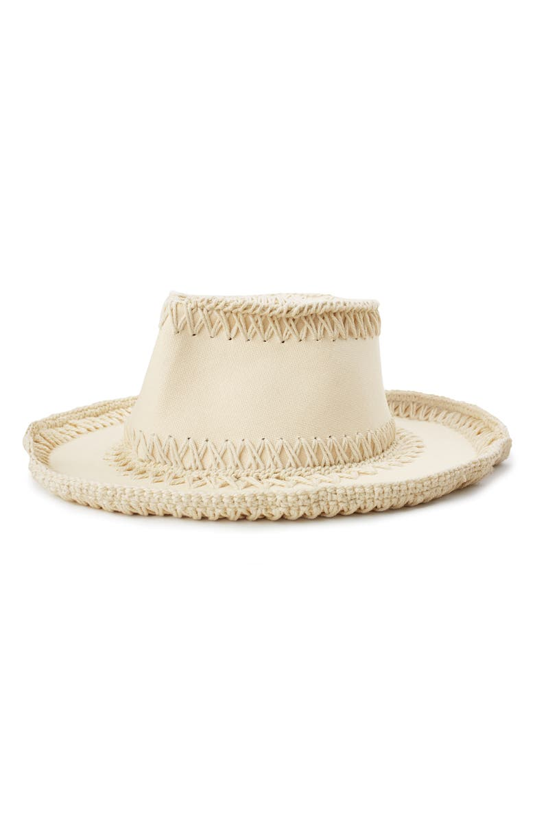 BRIXTON Joanna Cotton Hat, Main, color, OFF WHITE