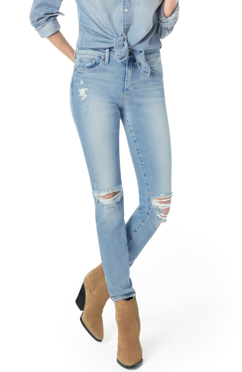JOE'S Flawless - Icon Ripped Ankle Skinny Jeans, Main, color, 451