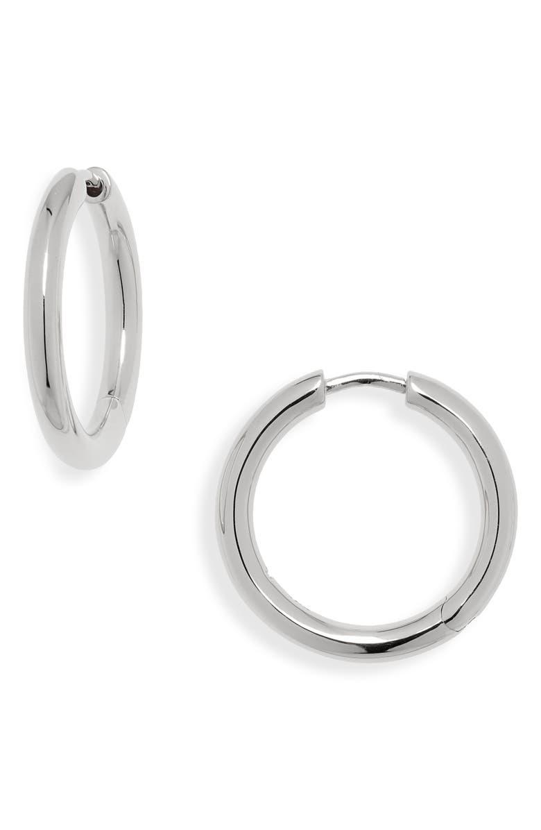 TOM WOOD Medium Classic Hoop Earrings, Main, color, 925 STERLING SILVER