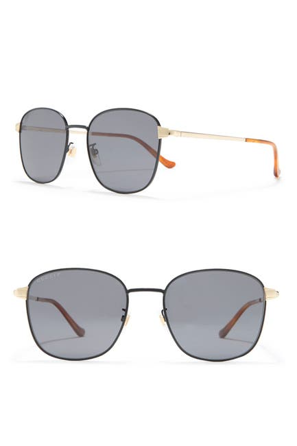 Image of GUCCI 56mm Square Sunglasses
