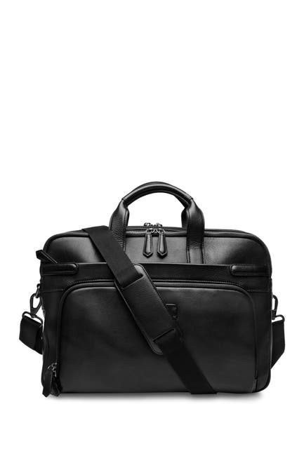 Image of BOSCA Double Zip Leather Laptop Brief