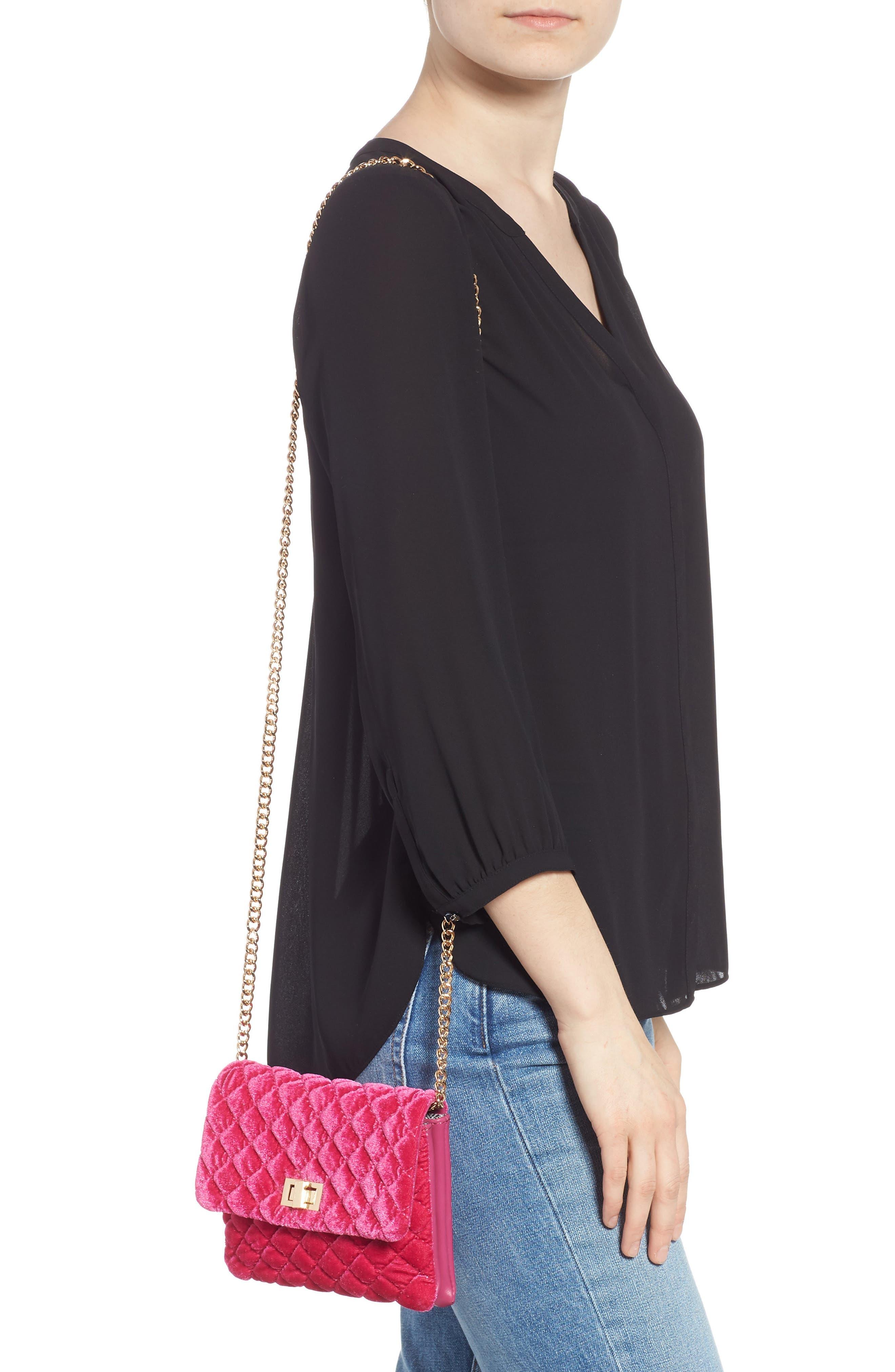 ,                             Nikki Quilted Velvet Belt Bag,                             Alternate thumbnail 13, color,                             650