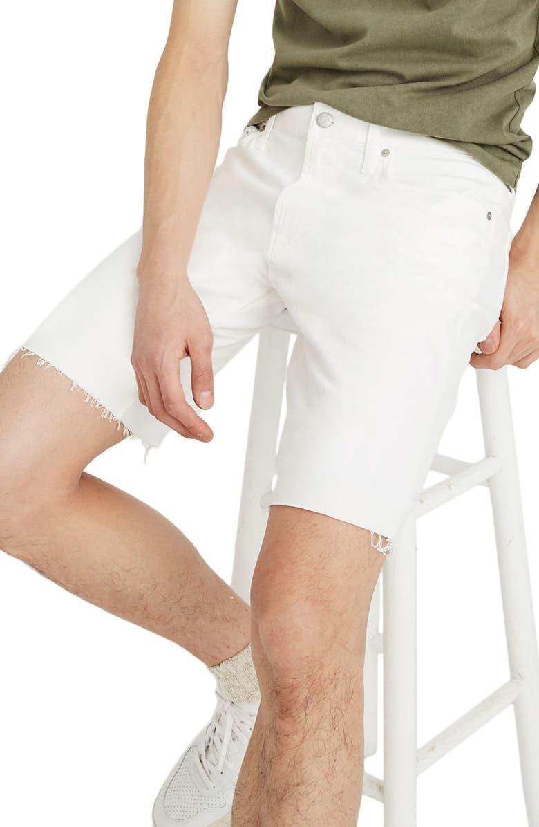 MADEWELL Denim Shorts, Main, color, 100