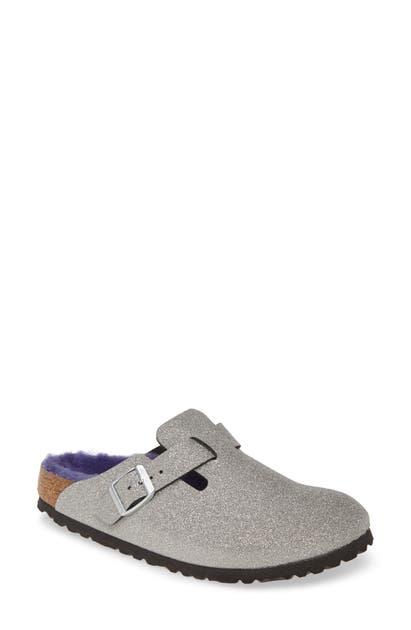 Birkenstock Shoes BOSTON GENUINE SHEARLING GILTTER DUST CLOG