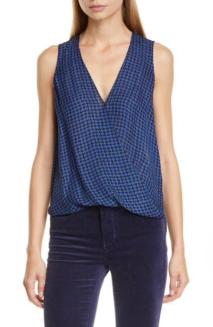 Image of L'AGENCE Mila Draped Sleeveless Blouse