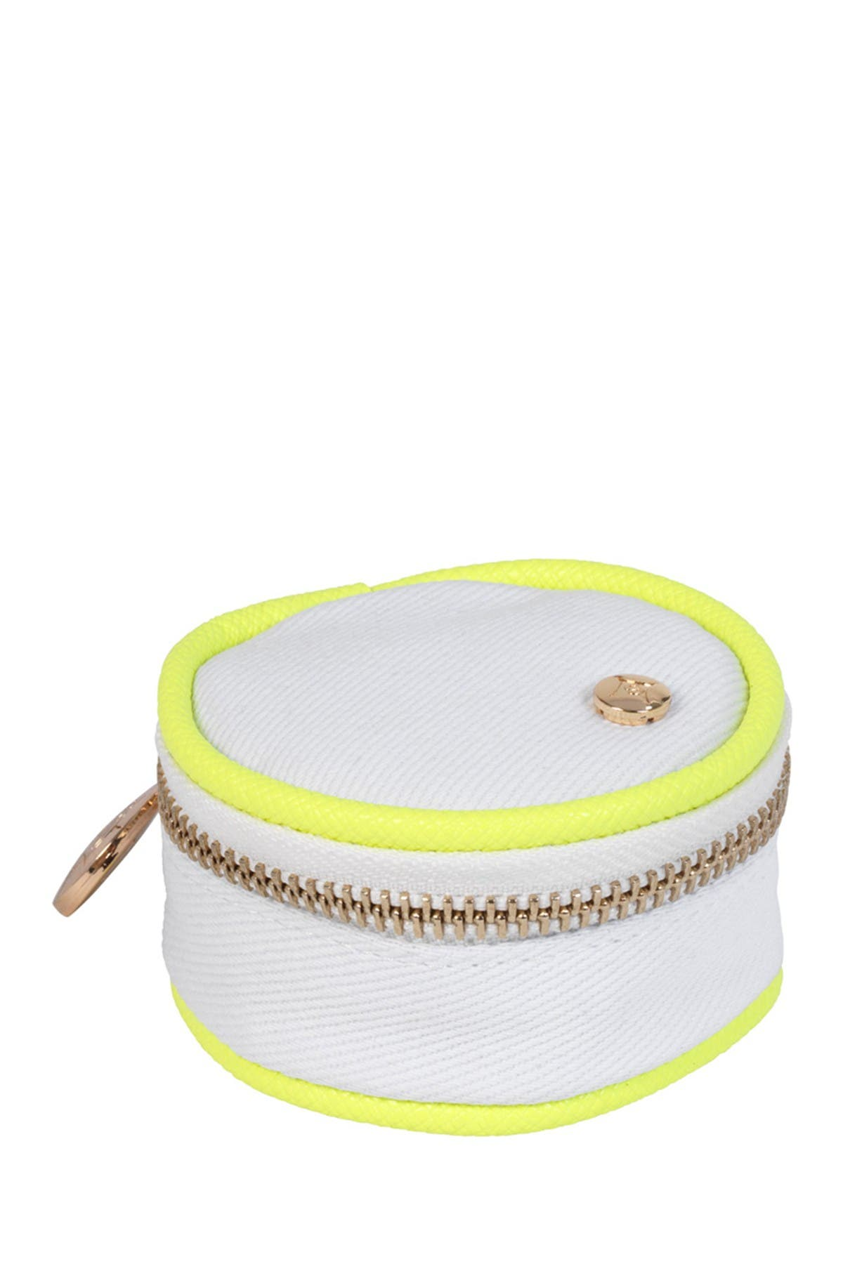 Stephanie Johnson Key West Angie Small Round Accessories Case - Neon Yellow