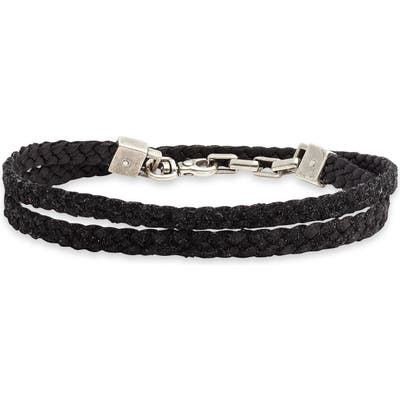 Title Of Work Braided Leather Wrap Bracelet