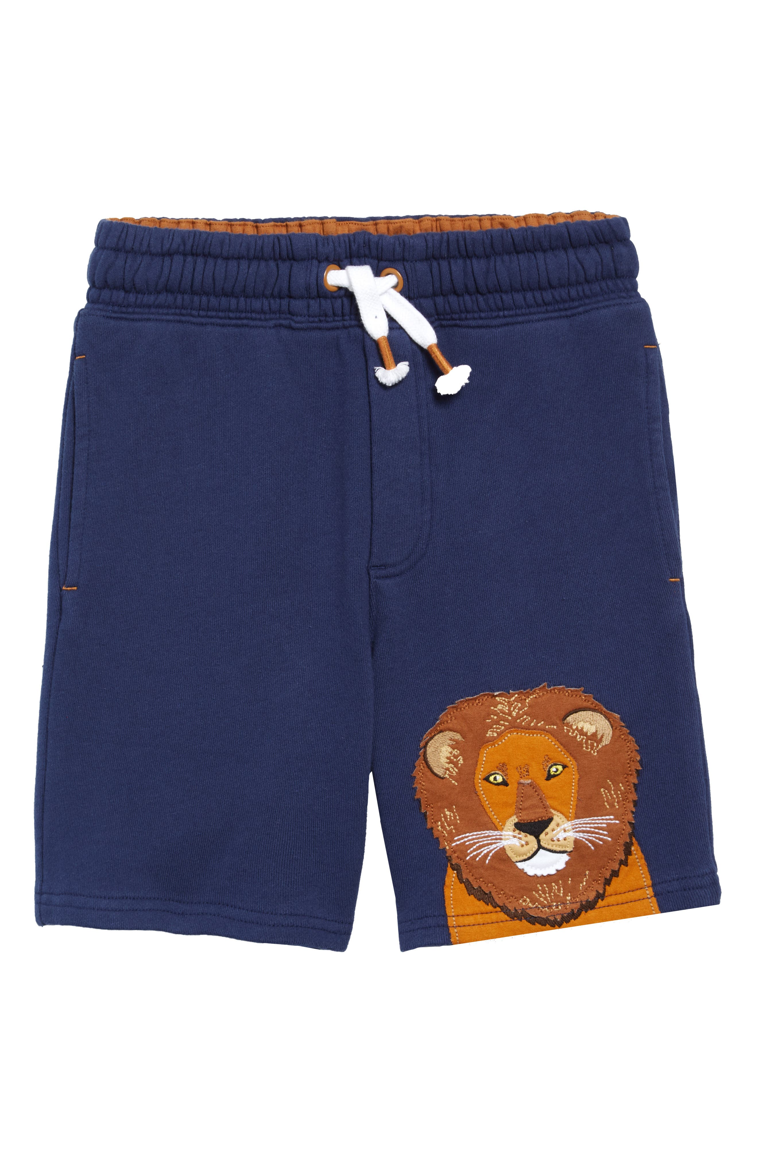 A colorful applique brightens a pair of comfy, all-activity shorts made from soft cotton fleece. Style Name: Mini Boden Applique Sweat Shorts (Toddler, Little Boy & Big Boy). Style Number: 6039384. Available in stores.