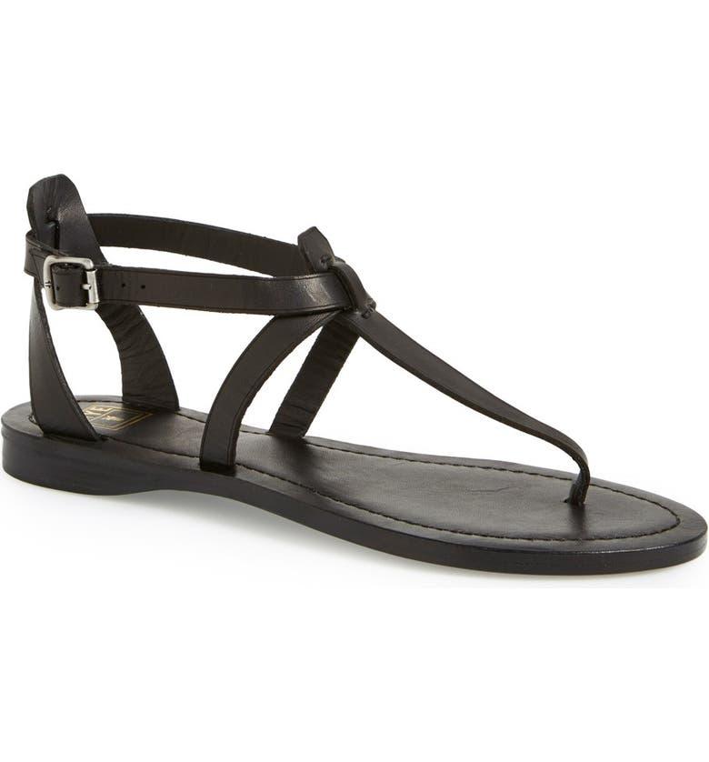 FRYE 'Rachel' T-Strap Sandal, Main, color, 001