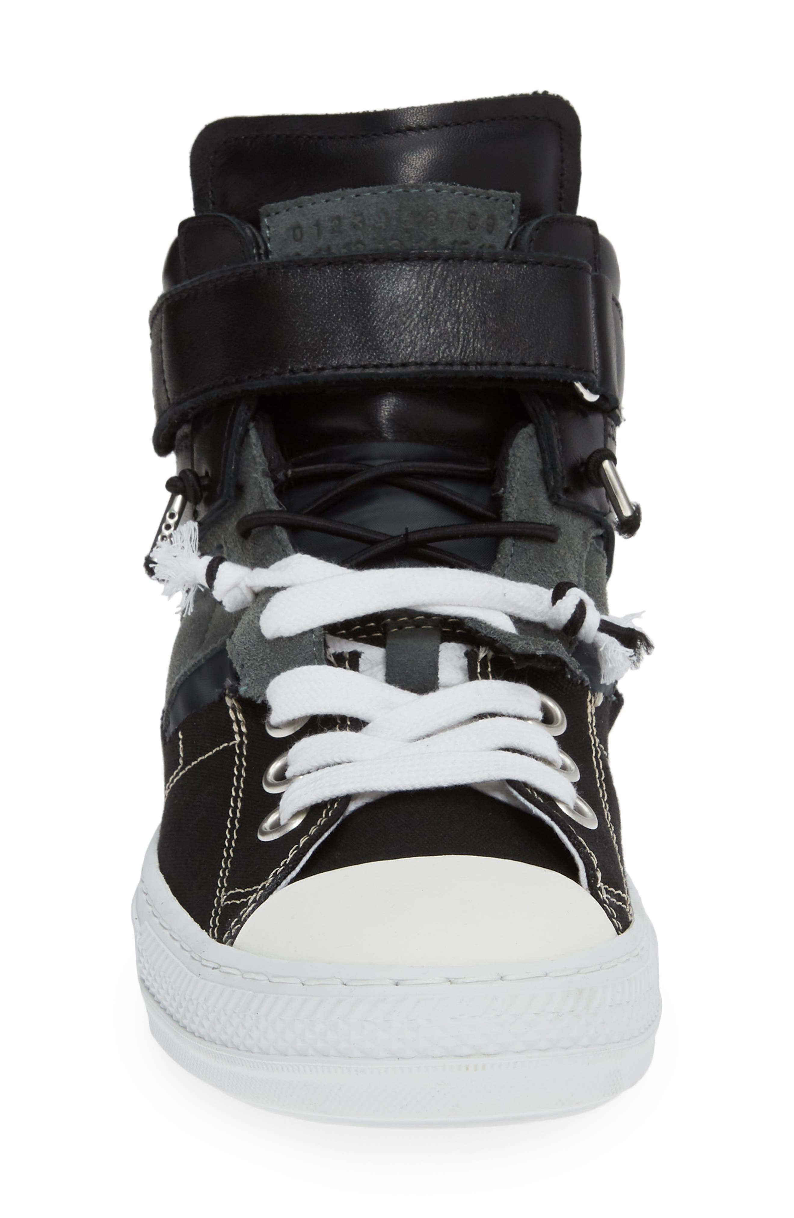 ,                             High Top Sneaker,                             Alternate thumbnail 4, color,                             001