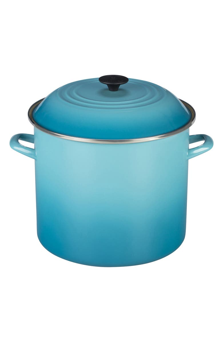 LE CREUSET 16-Quart Enameled Steel Stockpot, Main, color, 405