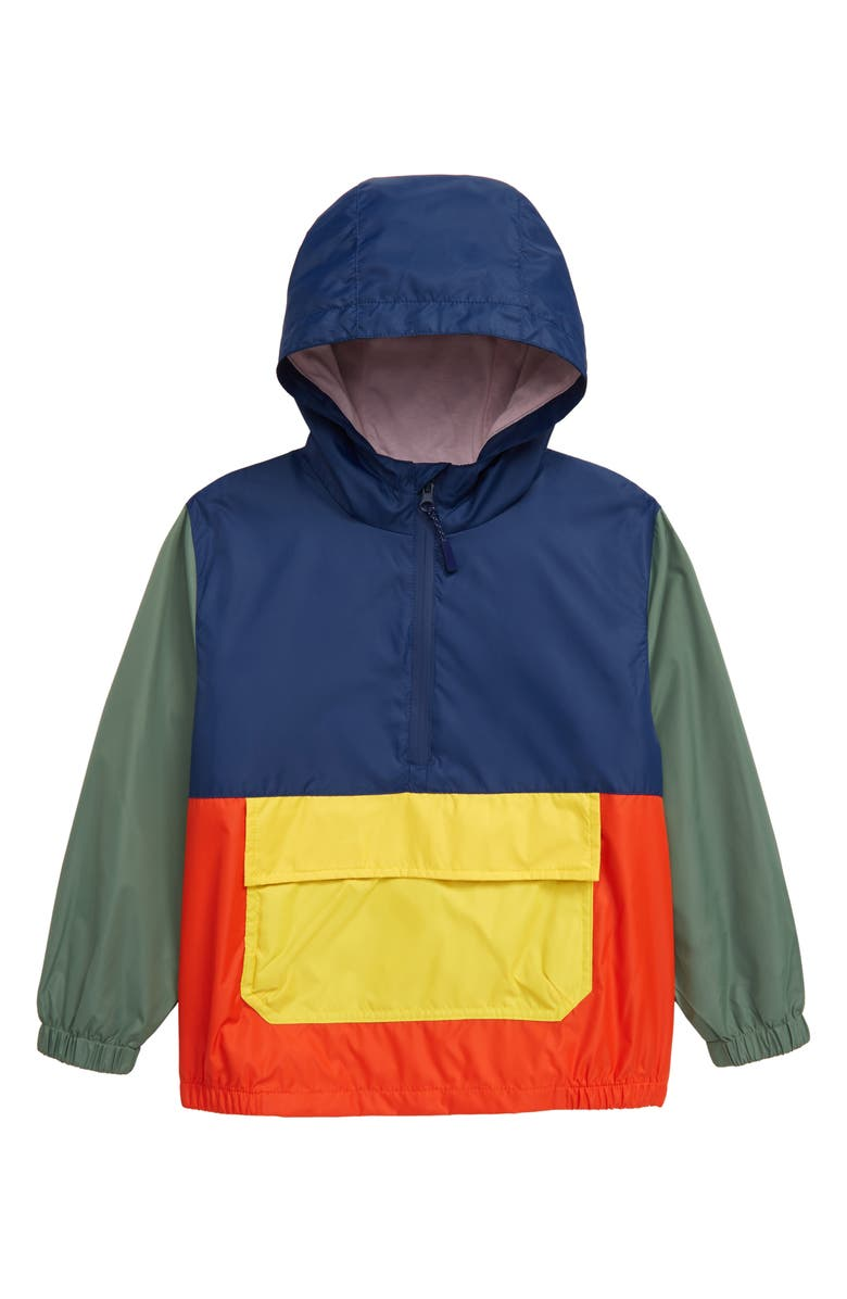 MINI BODEN Packable Waterproof Hooded Anorak, Main, color, 414