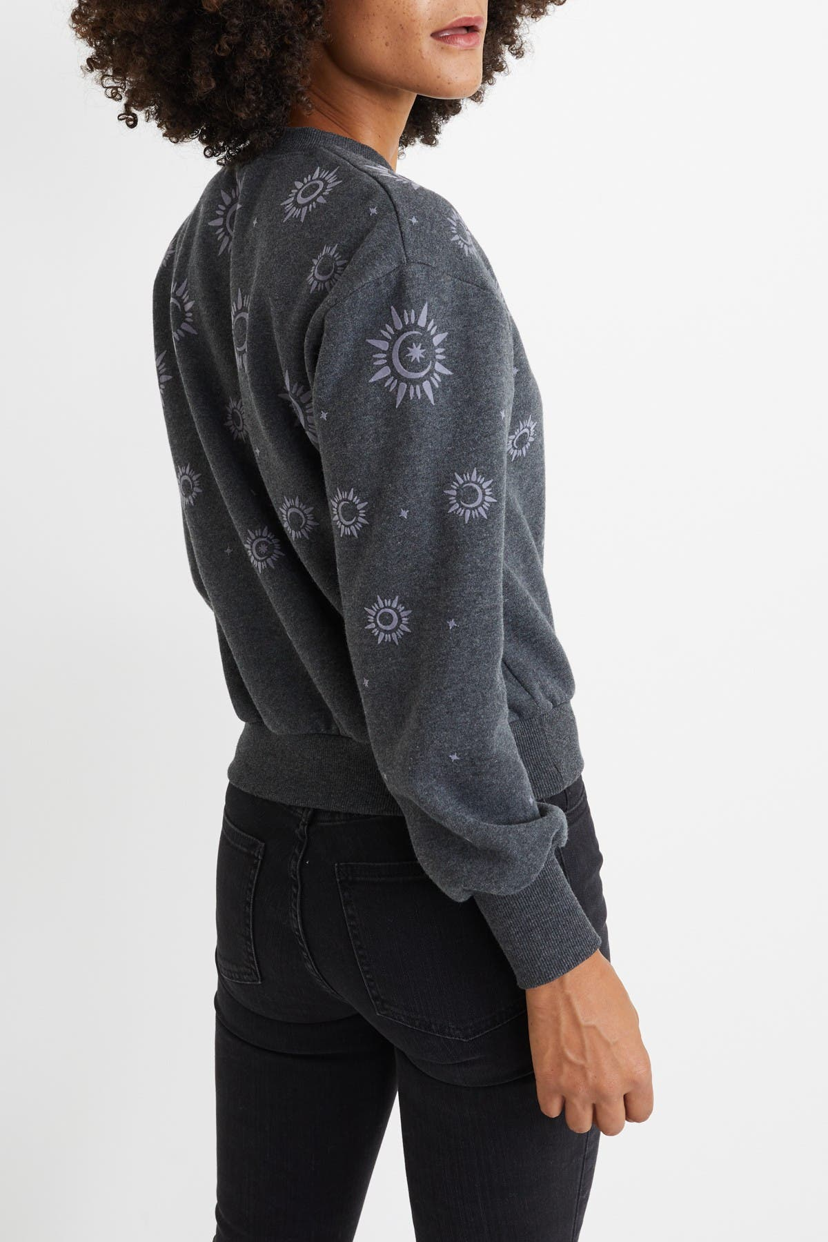 Image of Marine Layer Rue Flocked Design Sweatshirt