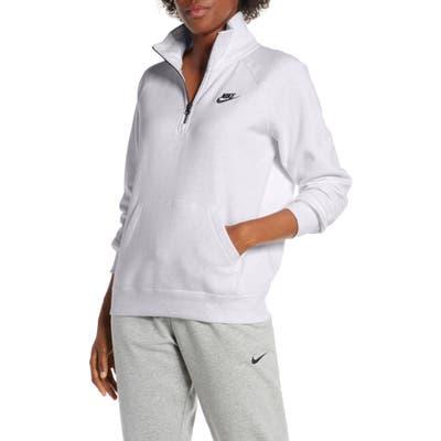 Nike Essential Quarter Zip Fleece Top, Grey