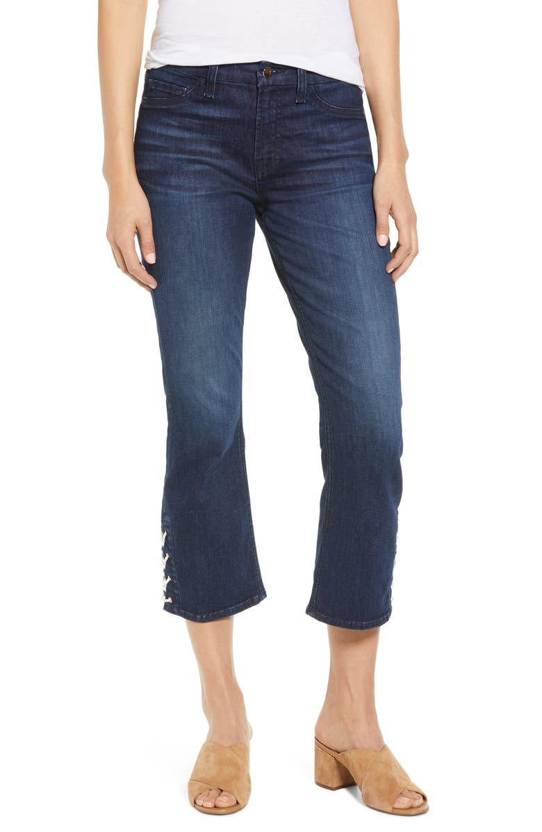 JEN7 BY 7 FOR ALL MANKIND Lace-Up Bootcut Crop Jeans, Main, color, 400
